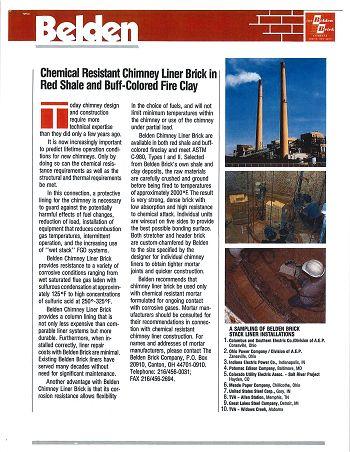 Chemical Resistant Chimney Liner Brick