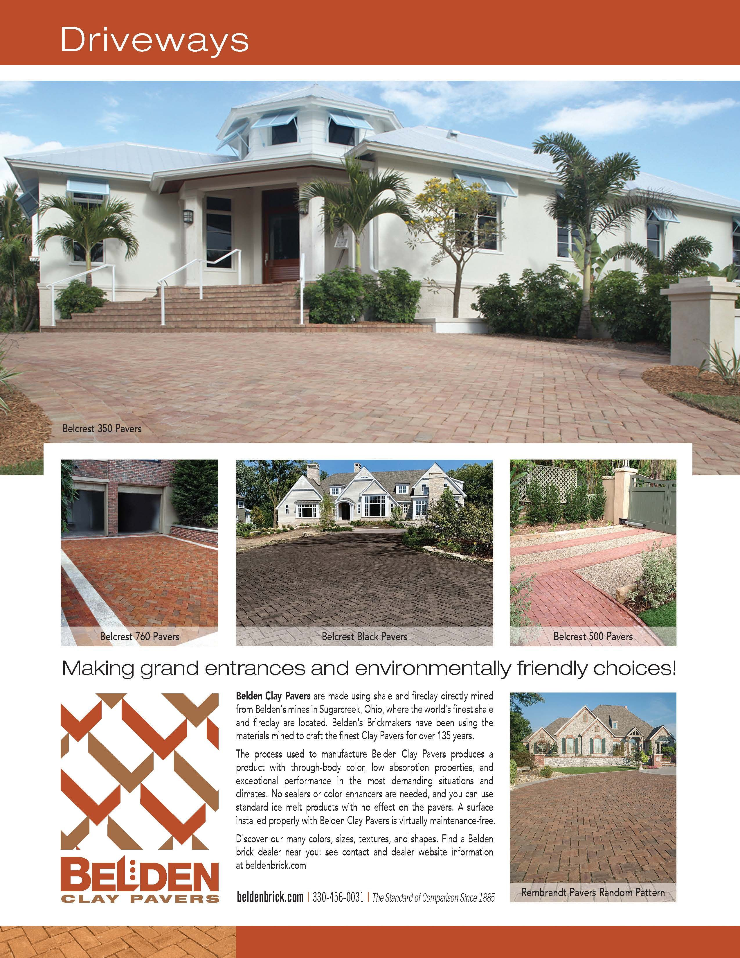 Clay Paver Driveways